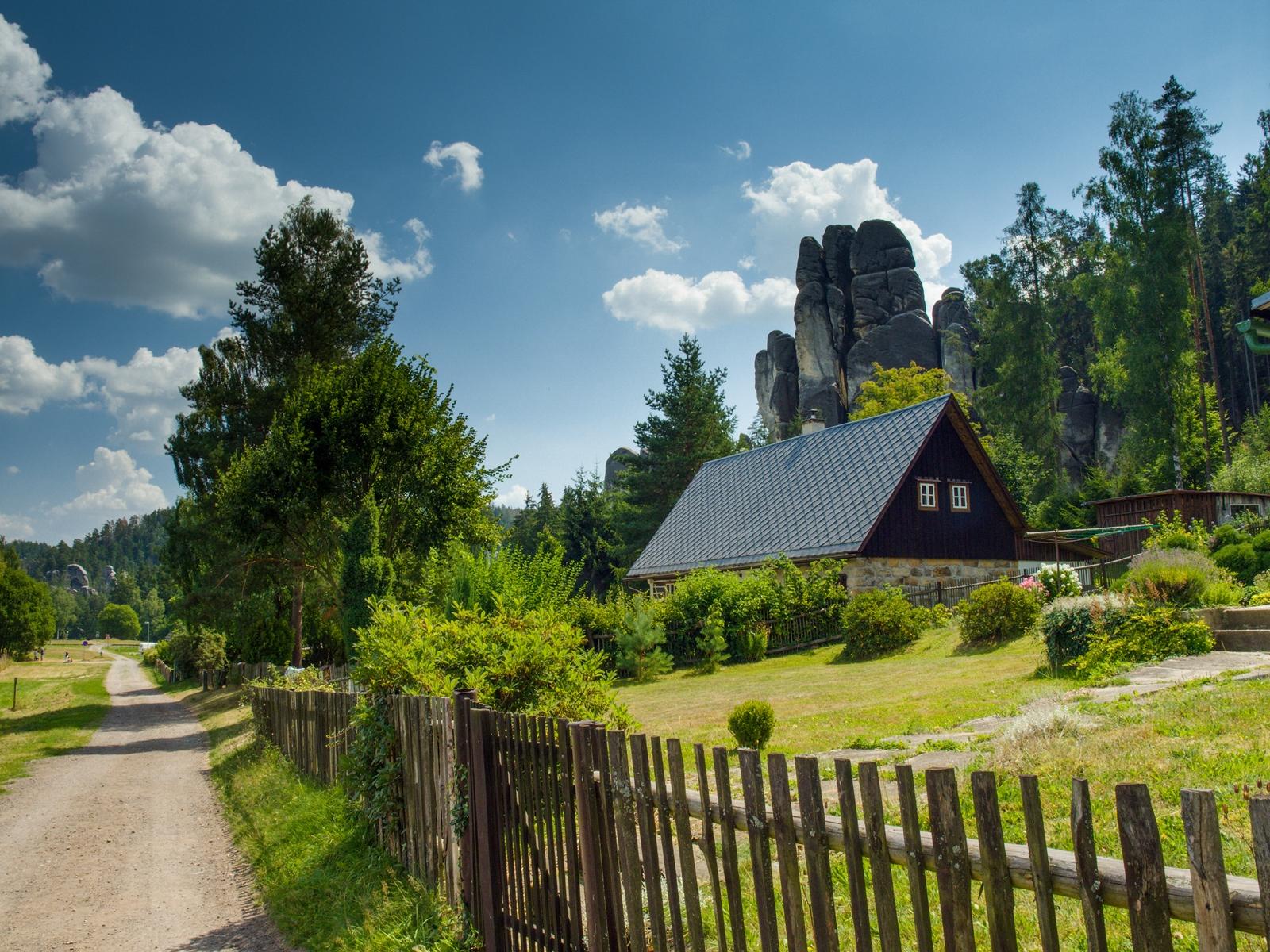 Landscape of Adrspach, Czech Republic