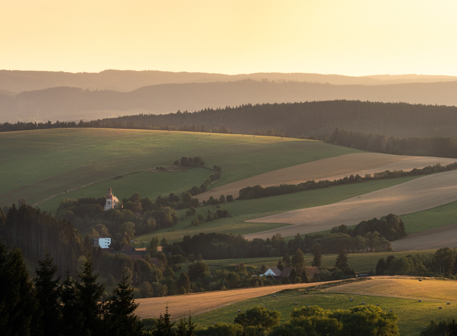Landscape of Broumov, Czech Republic